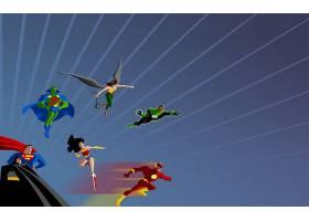漫画壁纸,公正,联盟,勤务兵,超人,火星的,追捕者,鹰派女孩,绿色的