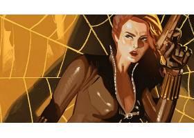 漫画壁纸,黑色,寡妇,壁纸(6)