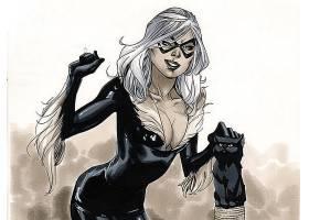 漫画壁纸,黑色,猫,壁纸(14)