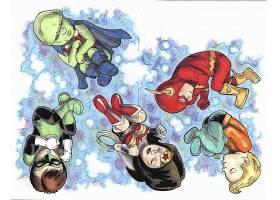 漫画壁纸,公正,联盟,火星的,追捕者,绿色的,灯笼,奇迹,妇女,闪光,