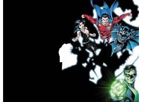 漫画壁纸,公正,联盟,超人,勤务兵,绿色的,灯笼,女士,特洛伊,哥伦