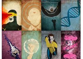 漫画壁纸,x战警,独眼巨人,教授,X,心理战,磁发电机,小猫,普里德,s