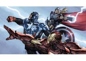 漫画壁纸,复仇者联盟,这,复仇者联盟,船长,美国,熨斗,男人,托尔,