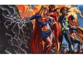漫画壁纸,公正,联盟,超级女声,蝙蝠女侠,闪光,绿色的,灯笼,哥伦比