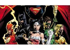 漫画壁纸,公正,联盟,闪光,勤务兵,奇迹,妇女,绿色的,灯笼,超人,Aq