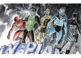 漫画壁纸,公正,联盟,闪光,绿色的,灯笼,奇迹,妇女,超人,勤务兵,哥