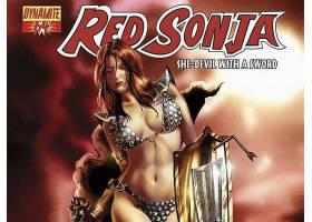 漫画壁纸,红色,Sonja,壁纸(15)