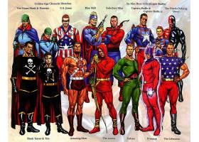 漫画壁纸,金色的,年龄,绿色的,面具,多米诺骨牌,美国,琼斯,蓝色,