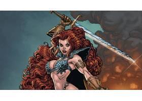 漫画壁纸,红色,Sonja,壁纸(2)