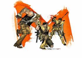 漫画壁纸,x战警,金刚狼,Sabretooth,壁纸