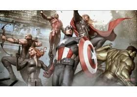 漫画壁纸,复仇者联盟,这,复仇者联盟,鹰眼,黑色,寡妇,熨斗,男人,