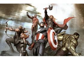 漫画壁纸,复仇者联盟,这,复仇者联盟,鹰眼,黑色,寡妇,船长,美国,
