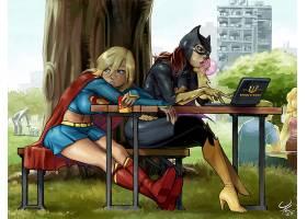 漫画壁纸,哥伦比亚特区,漫画壁纸,超级女声,蝙蝠女侠,壁纸