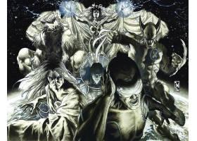 漫画壁纸,x战警,金刚狼,独眼巨人,野兽,壁纸(1)