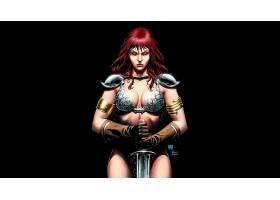 漫画壁纸,红色,Sonja,壁纸(25)