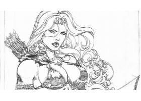 漫画壁纸,红色,Sonja,壁纸(3)