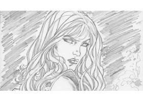 漫画壁纸,红色,Sonja,壁纸(4)