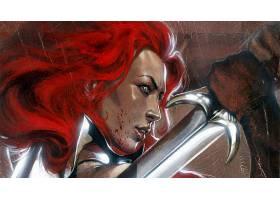 漫画壁纸,红色,Sonja,壁纸(6)