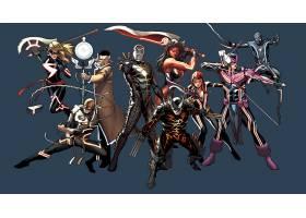 漫画壁纸,拼贴,超级英雄,熨斗,拳头,熨斗,男人,金刚狼,鹰眼,蜘蛛