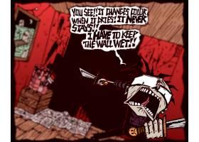 漫画壁纸,男人,这,杀人的,疯子,杀人的,血,壁纸