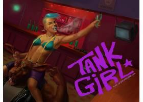 漫画壁纸,坦克,女孩,壁纸(5)