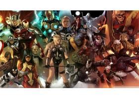 漫画壁纸,奇迹,漫画壁纸,超级英雄,托尔,熨斗,男人,船长,美国,鹰