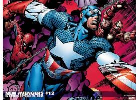 漫画壁纸,新建,复仇者联盟,这,复仇者联盟,蜘蛛侠,船长,美国,熨斗
