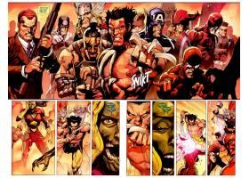 漫画壁纸,奇迹,漫画壁纸,金刚狼,靶心,船长,美国,托尔,蜘蛛侠,缺