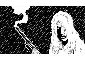 漫画壁纸,脱衣舞女,Vs .,狼人,恐怖,令人毛骨悚然的,令人毛骨悚然