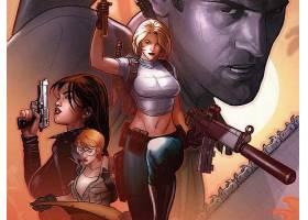 漫画壁纸,危险,女孩,和,这,军队,关于,黑暗,愤怒,女孩,灰,威廉姆