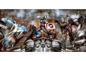 漫画壁纸,终极目标,船长,美国,蜘蛛侠,壁纸