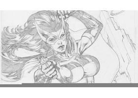 漫画壁纸,女猎手,壁纸(3)