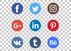 社交媒体社交网络徽标计算机图标,社交PNG剪贴画文本,数字,封装的