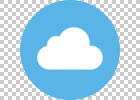 社交媒体计算机图标按钮标志,社交媒体PNG剪贴画蓝色,云,封装的Po