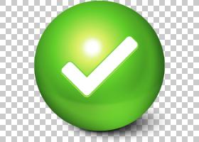 符号球绿色,可爱球去,绿色和白色检查徽标PNG剪贴画球体,应用程序