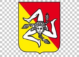 西西里岛国旗Trinacria Logo徽章,其他PNG剪贴画会徽,其他,国徽,t
