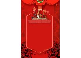 红色工农民背景五一劳动节背景模板图片