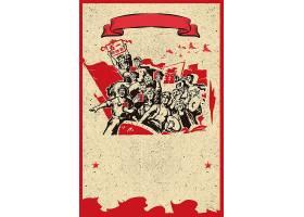 怀旧风背景五一劳动节背景模板图片