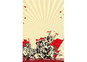 创意中国卡通青年劳动节海报图片