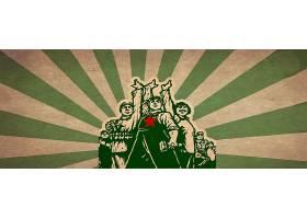 创意复古中国红色时代劳动节主图背景模板图片