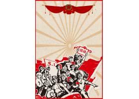 创意中国风劳动节奖状背景模板图片
