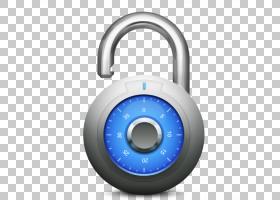 挂锁五金配件,解锁,圆形灰色和蓝色数字挂锁PNG剪贴画mac,电脑图