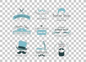 徽标美容海报,理发店主题装饰元素图标PNG剪贴画文本,标签,横幅,图片