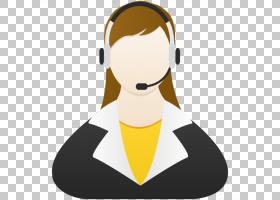 人类行为麦克风脖子视力保健通信,客户服务,女人戴着耳机PNG剪贴