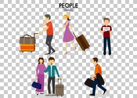 广州白云国际机场旅行行李图标,旅游旅行资料PNG剪贴画cdr,公共关