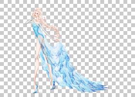 Elsa Rapunzel安娜迪士尼公主绘画,美丽的婚纱礼服设计PNG剪贴画