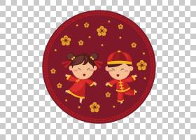 中国新年贺卡愿望,微笑儿童中国新年PNG剪贴画爱,孩子,假期,中国