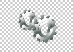 齿轮欧几里德3D计算机图形图标,渐变,尺寸金属齿轮PNG剪贴画3D计