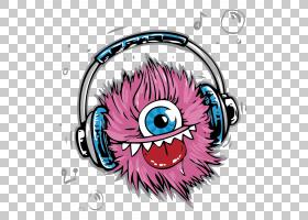 T,衬衫耳机怪物电缆,抽象音乐耳机PNG剪贴画电子产品,贴纸,抽象线