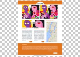 平面设计响应式网页设计HTML电子邮件广告,设计PNG剪贴画文本,响